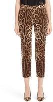Dolce & Gabbana Leopard Print Ankle Pants