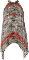 Missoni pleated colour-block blouse