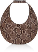 STAUD Moon Snake-Effect Leather Shoulder Bag