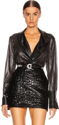 Alix Reade Metallic Bodysuit in Charcoal Metallic | FWRD