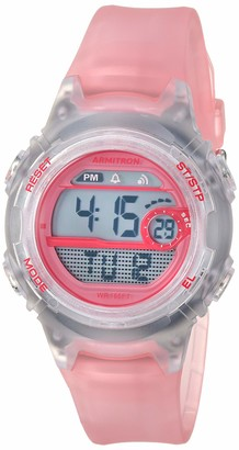 Armitron Sport Women's 45/7088TLB Digital Chronograph Translucent Light Blue Resin Strap Watch