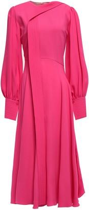Roksanda Draped Silk-crepe Midi Dress