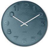 Karlsson Mr. Blue Numbers Wall Clock - Small, Steel Case