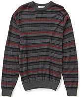 Turnbury Crew Horizontal Stripe Merino Wool Blend Pullover Sweater