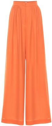 Max Mara Dolly silk-georgette wide-leg pants