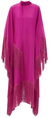 Taller Marmo - Mrs Ross High-neck Fringed Crepe Kaftan - Pink