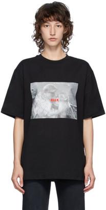 MSGM Black Logo Monkey T-Shirt