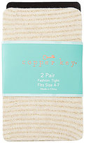 Copper Key 2-Pack Striped and Solid Heavyweight Tights