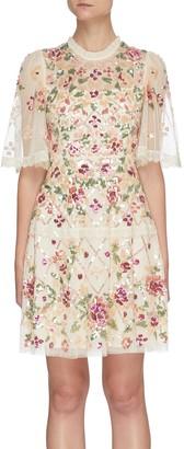 Needle & Thread 'Trellis Rose' mini dress