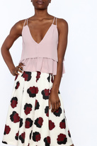 Olivaceous Rose Ruffle Crop Top