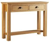 Westminster Console Table - Oak and Oak Veneer