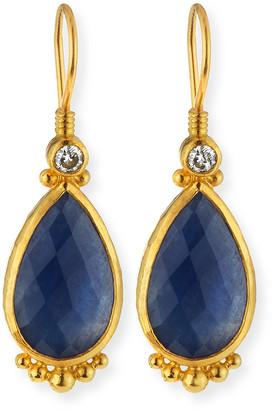 Gurhan Elements 24k Constantine Sapphire Teardrop Earrings