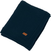 Gant Wool Cable Knit Throw - Navy - 150x200cm