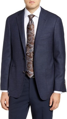 Hickey Freeman Trim Fit Textured Sport Coat