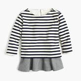 J.Crew Girls' striped ruffle hem T-shirt