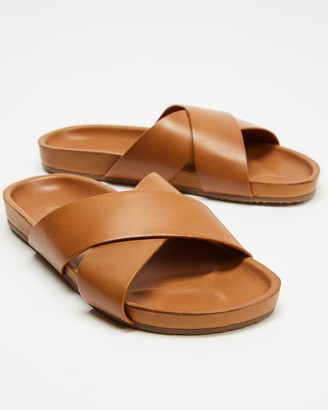 AERE - Brown Desert Boots - Brunswick Leather Slides - Size 9, M9/W11 at The Iconic