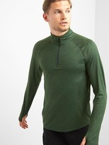 GapFit brushed tech jersey half-zip pullover