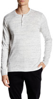 Calvin Klein Space Dye Long Sleeve Henley Shirt