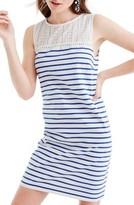 J.Crew Women's Eyelet Yoke Striped Dress
