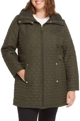 Weatherproof Plus Hooded Quilted Walker Jacket
