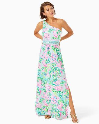 Lilly Pulitzer Malia One-Shoulder Maxi Dress