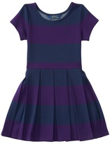 Polo Ralph Lauren Ponte Stripe Dress (Little Kids)