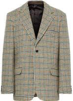 Raf Simons Oversized Houndstooth Wool Blazer - Brown