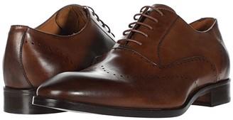Massimo Matteo Perf Bal Wing Tip (Brandy) Men's Shoes
