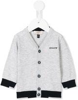 Armani Junior v-neck cardigan - kids - Cotton - 6 mth
