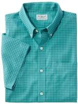 L.L. Bean Wrinkle-Free Check Shirt, Traditional Fit Short-Sleeve