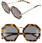 Karen Walker Women's 'Moon Disco' Octagonal 53Mm Sunglasses - Black/ Gold