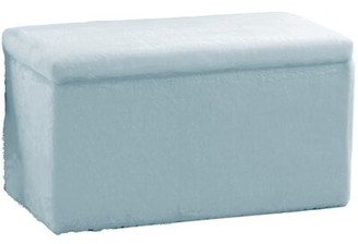 Skyline Furniture Upholstered Flip top Storage Bench Upholstery Color: Fur Blue