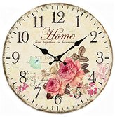 SkyNature Quartz Movement Silent Non-Ticking Wooden Wall Clocks (12 inch home)