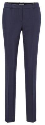 HUGO BOSS Regular Fit Pants In Micro Houndstooth Virgin Wool - Patterned