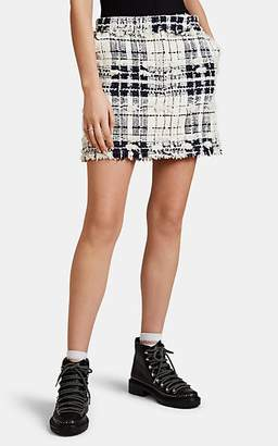 Thom Browne Women's Checked Wool Tweed Miniskirt - White