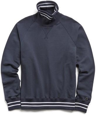 Todd Snyder + Champion Tipped Turtleneck Sweatshirt in Navy