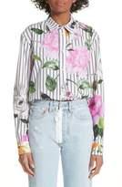 Off-White Basic Flower Stripe Shirt