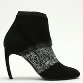 Nicholas Kirkwood Kim 90 Black Deconstructed Knitted Ankle Boots