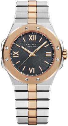 Chopard 36mm Two-Tone Watch w/ Bracelet Strap, Gray
