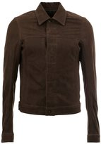 Rick Owens classic collar jacket - men - Cotton/Calf Leather/Cupro - 46