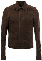 Rick Owens classic collar jacket - men - Cotton/Calf Leather/Cupro - 54