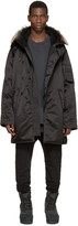 Yeezy Black Faux-fur Parka