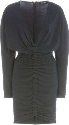Cushnie Ruched Matte Jersey Mini Dress