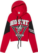 PINK The Ohio State University Cropped Cinched Hem Hoodie