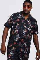 Big & Tall Oriental Floral Revere Collar Shirt