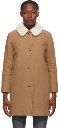 A.P.C. Tan New Doll Coat