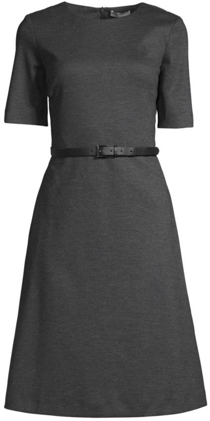 Peserico Belted Crewneck Dress