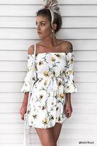 Forever 21 Floral Off-the-Shoulder Dress