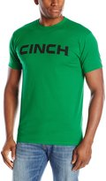 Cinch Men's Basic Short Sleeve Cotton Crew Neck Tee with Front Screen Print