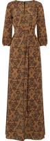 Vanessa Seward Printed Silk Maxi Dress